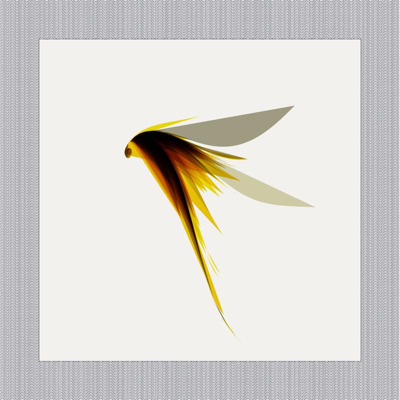 Objkt 142215: 1024x1024 Generative glitch art written in Java with Processing. Based on strange attractor formulas. By @__orderandchaos