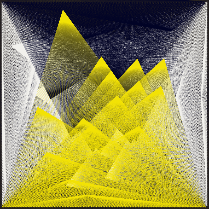 Objkt 180005: Generative art, created with Java and Processing. Based on Harmonograph formulas. By @__orderandchaos.