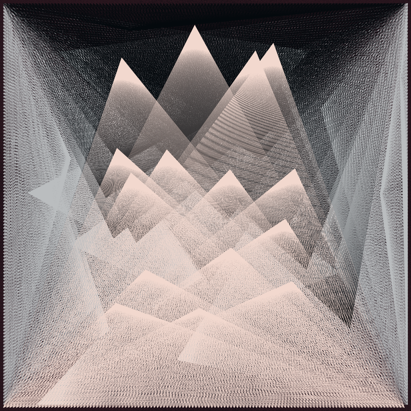 Objkt 180008: Generative art, created with Java and Processing. Based on Harmonograph formulas. By @__orderandchaos.