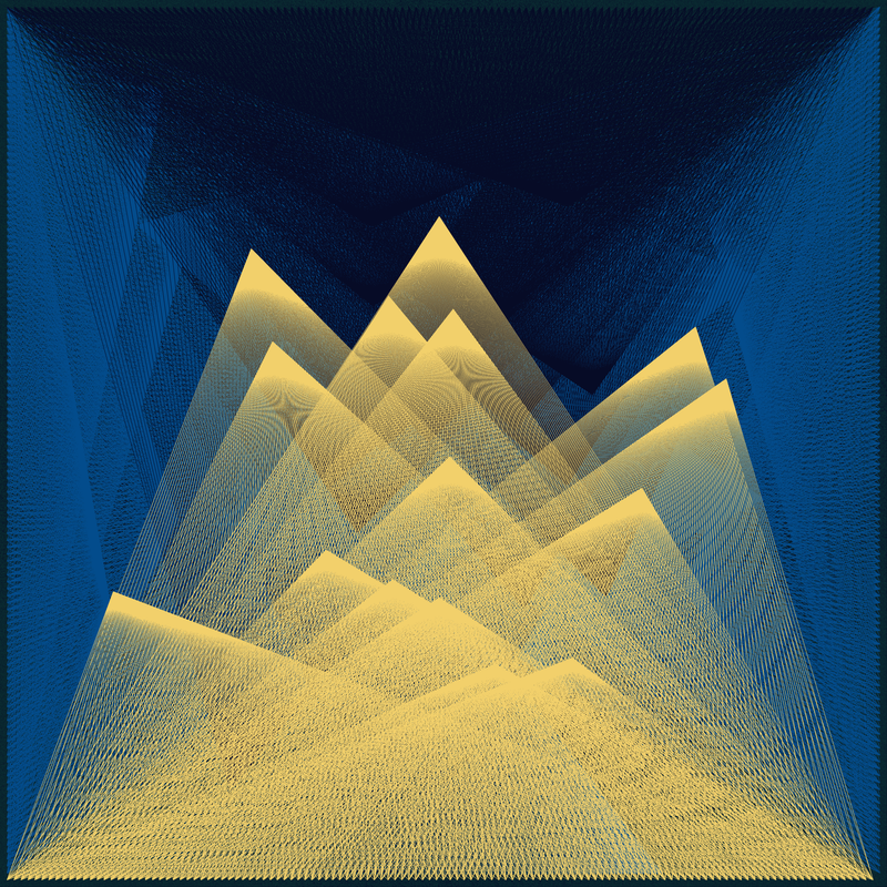 Objkt 180013: Generative art, created with Java and Processing. Based on Harmonograph formulas. By @__orderandchaos.