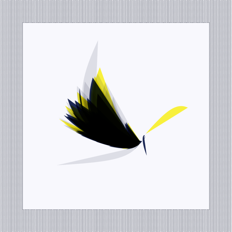Objkt 21889: 1024x1024 Generative glitch art written in Java with Processing. Based on strange attractor formulas. By @__orderandchaos